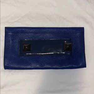 Manning Cartell Blue Leather Clutch